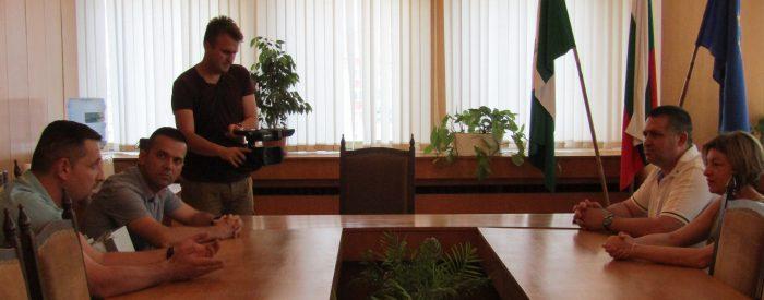 Градоначалникът д-р Василев обсъди възможностите за б� ...