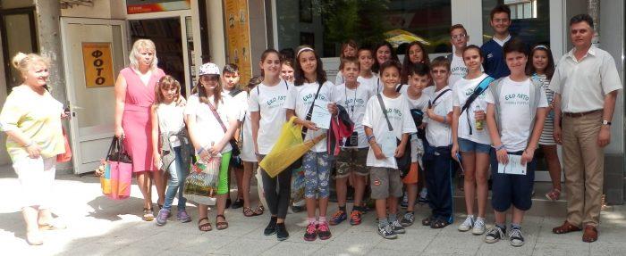"""Децата от """"Еколято 2016"""" посетиха ОИЦ-Разград"""