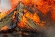Пожар вилня в частен дом в Киченица