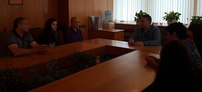 Градоначалникът се срещна с айкидо инструктор от САЩ ,  ...