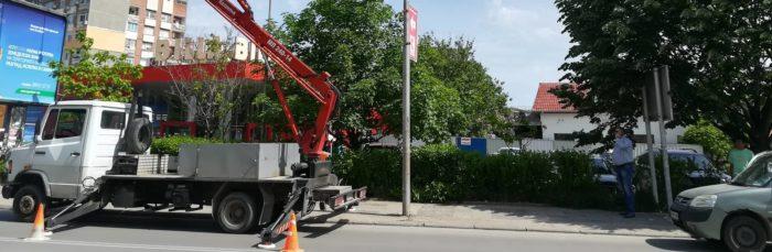 Кметът д-р Валентин Василев инспектира поставянето на  ...