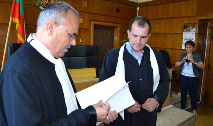 30-годишният Ангел Ташев положи клетва като младши съди ...