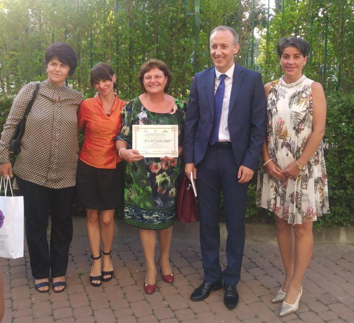 """Д-р Надие Карагьозова с почетен знак """"Народен будител� ..."""