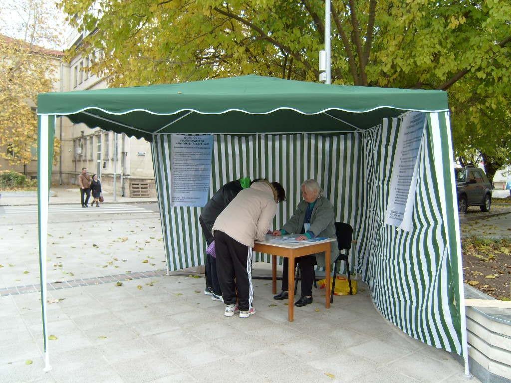35-годишен потроши шатра на метри от полицията в Разгра� ...