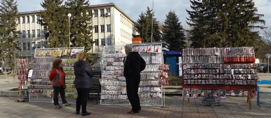 Два базара за мартеници откриха в Разград днес