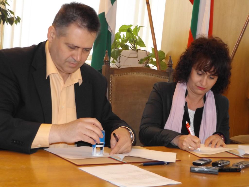 Градоначалникът д-р Василев подписа Меморандум за сът� ...