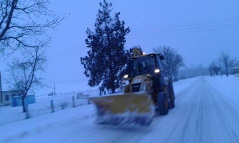 Жълт код в Лудогорието, продължава на вали сняг