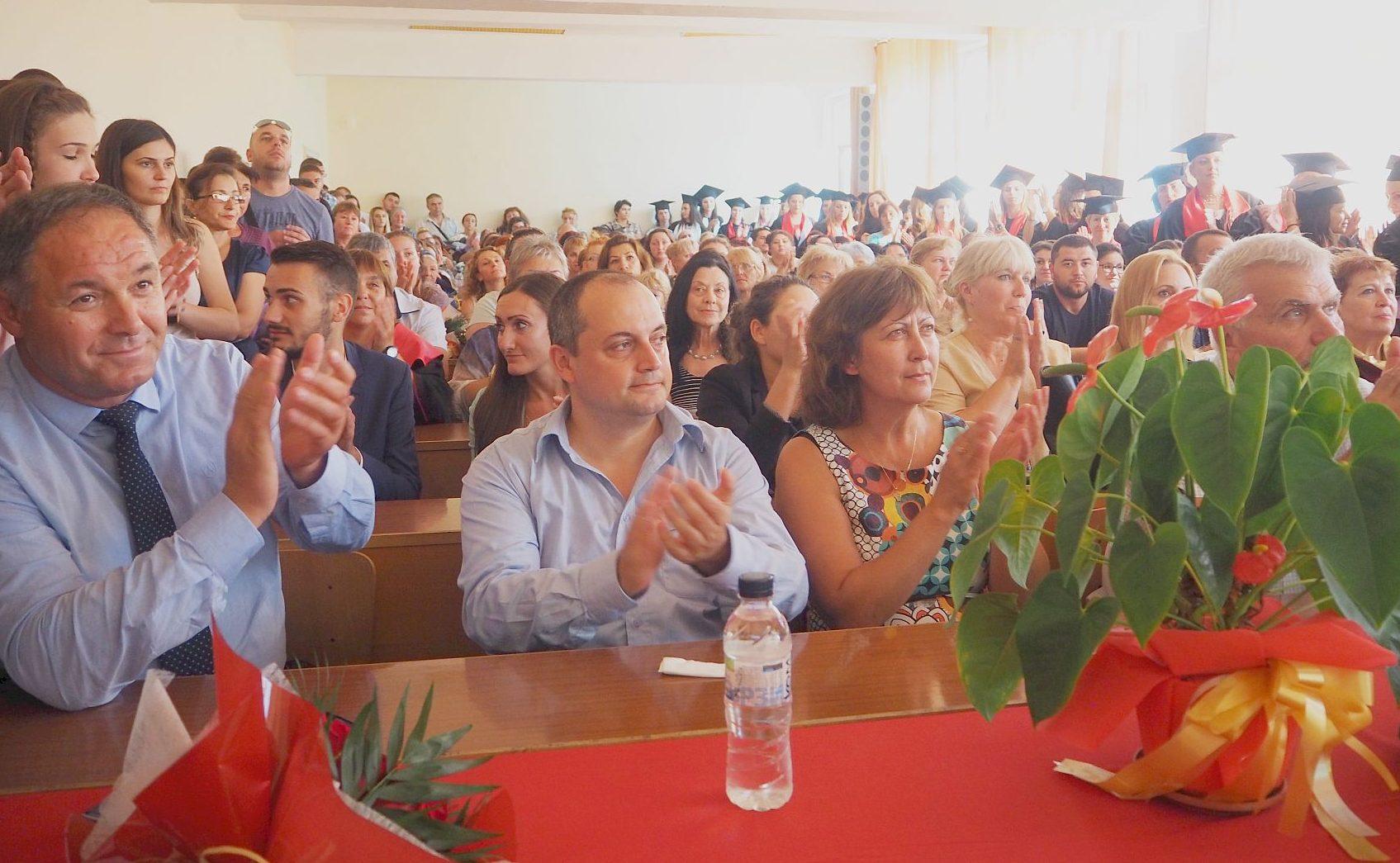 Областният управител поздрави студентите от Филиал Ра ...