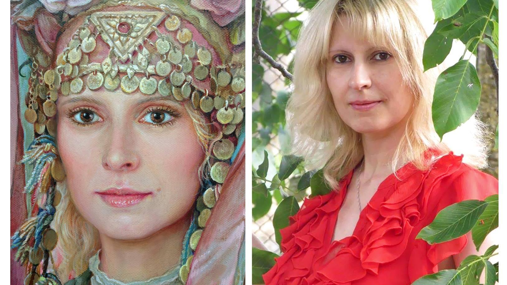 Ивелина Радионова представя част от своето творчество ...