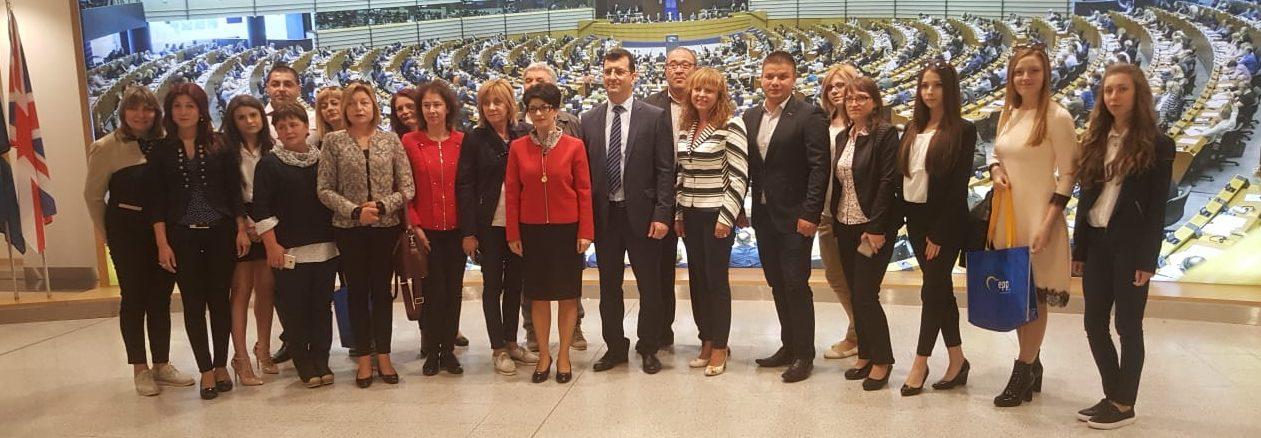 Група на ПП ГЕРБ от Лудогорието  посети Европейския па� ...