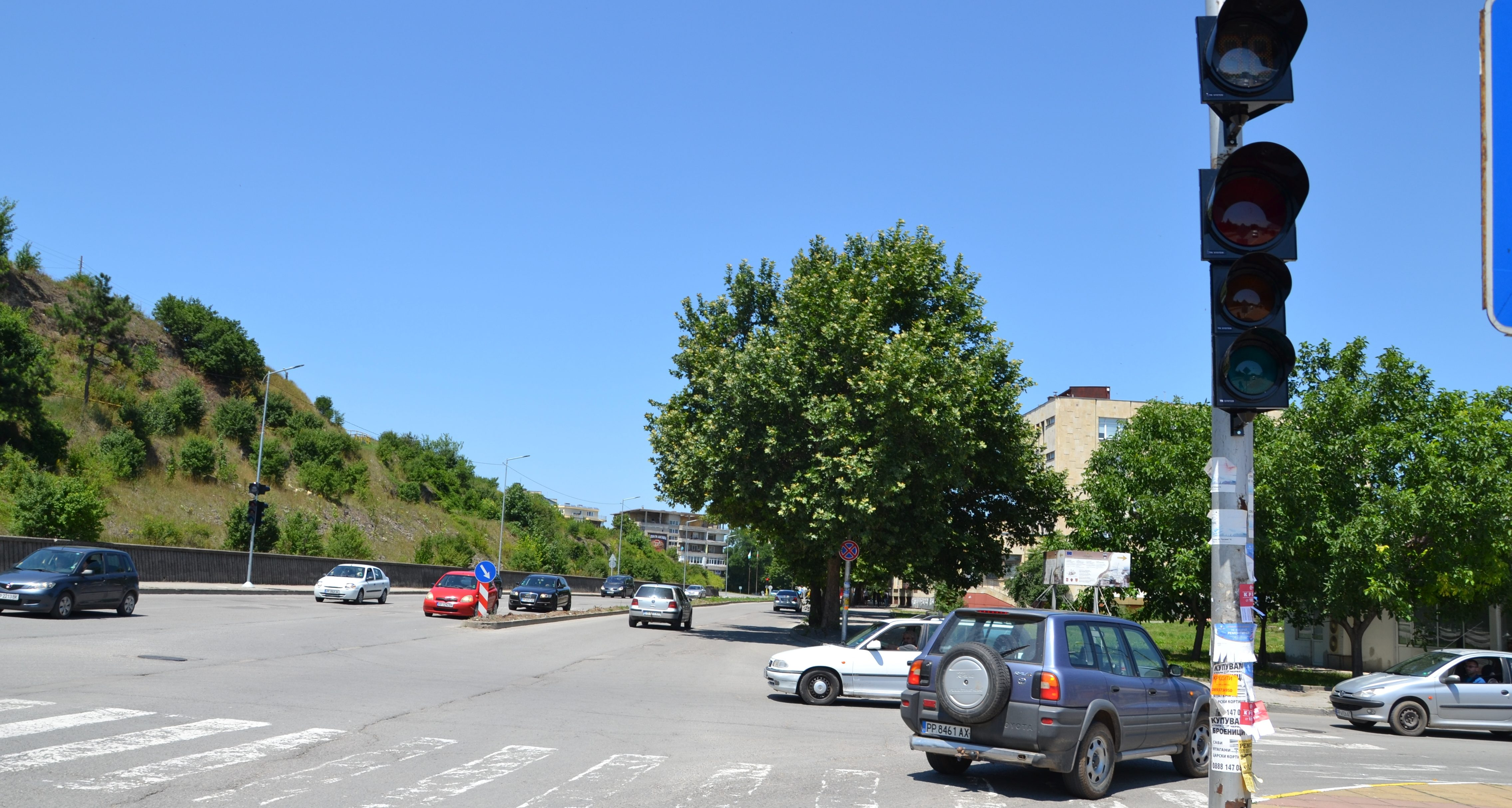 Община Разград постави светофари до Автогарата