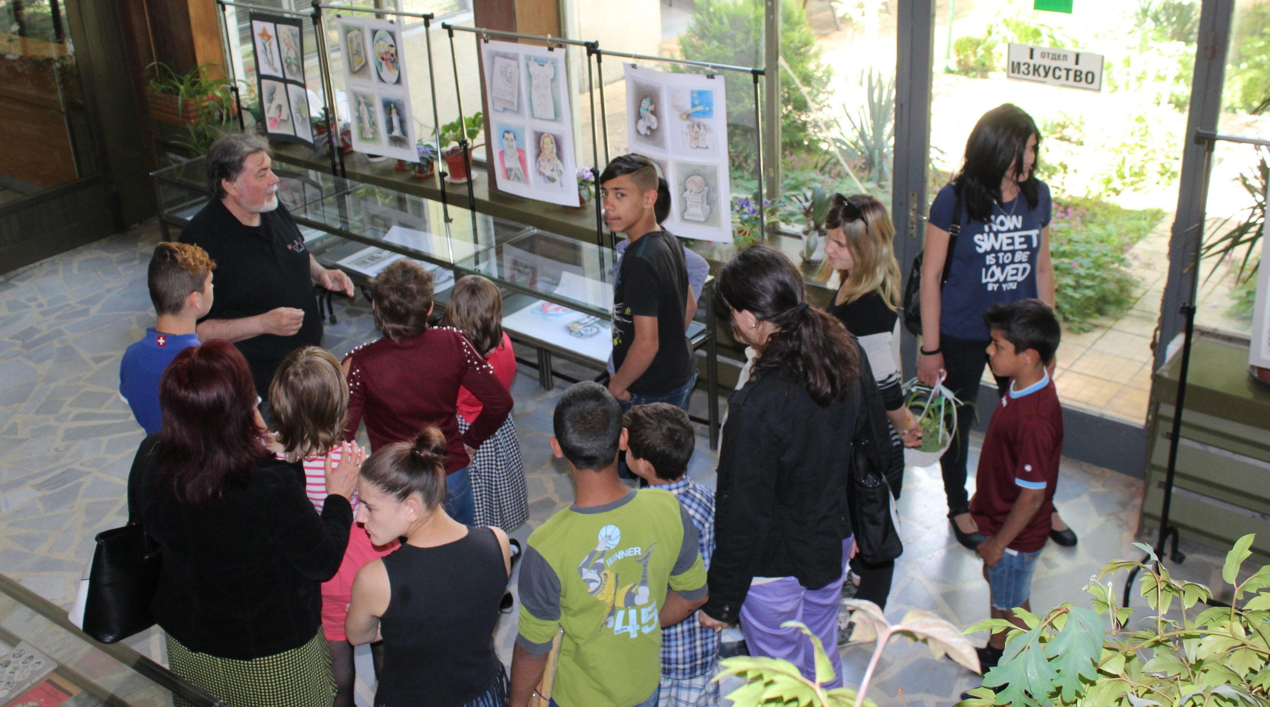 Деца от КЦНСТДБУ бяха на екскурзия в библиотеката
