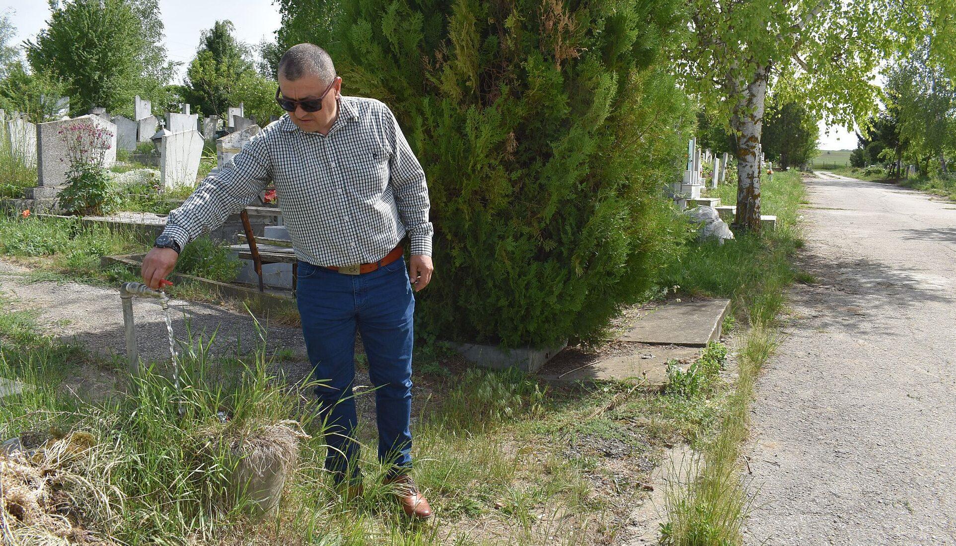 Чешмите в Гробищния парк вече работят