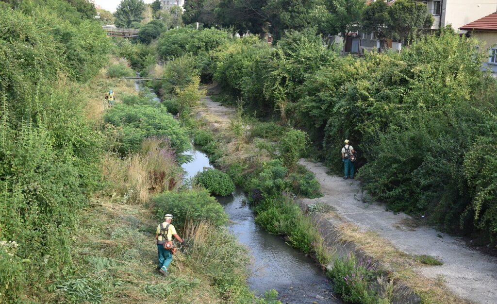 Започна почистването на коритото на река Бели Лом в Ра� ...