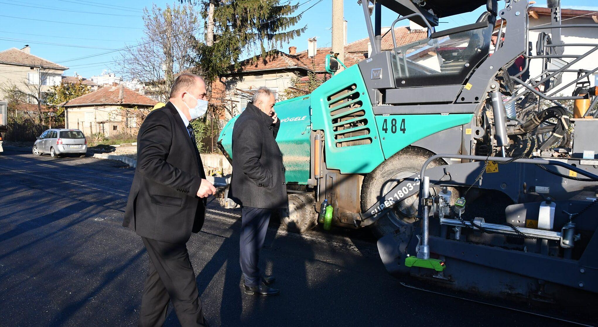 Кметът Алкин Неби провери ремонта на пътя Русе – Кубра ...
