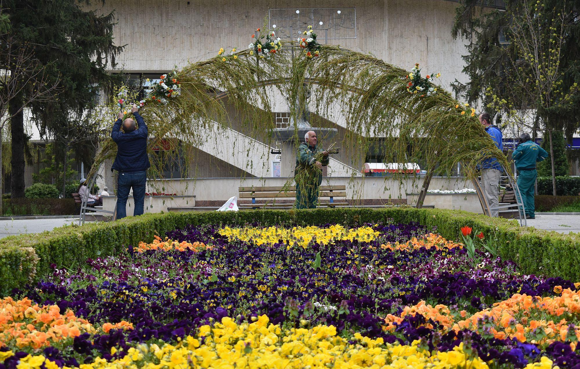 Цветна арка за Цветница