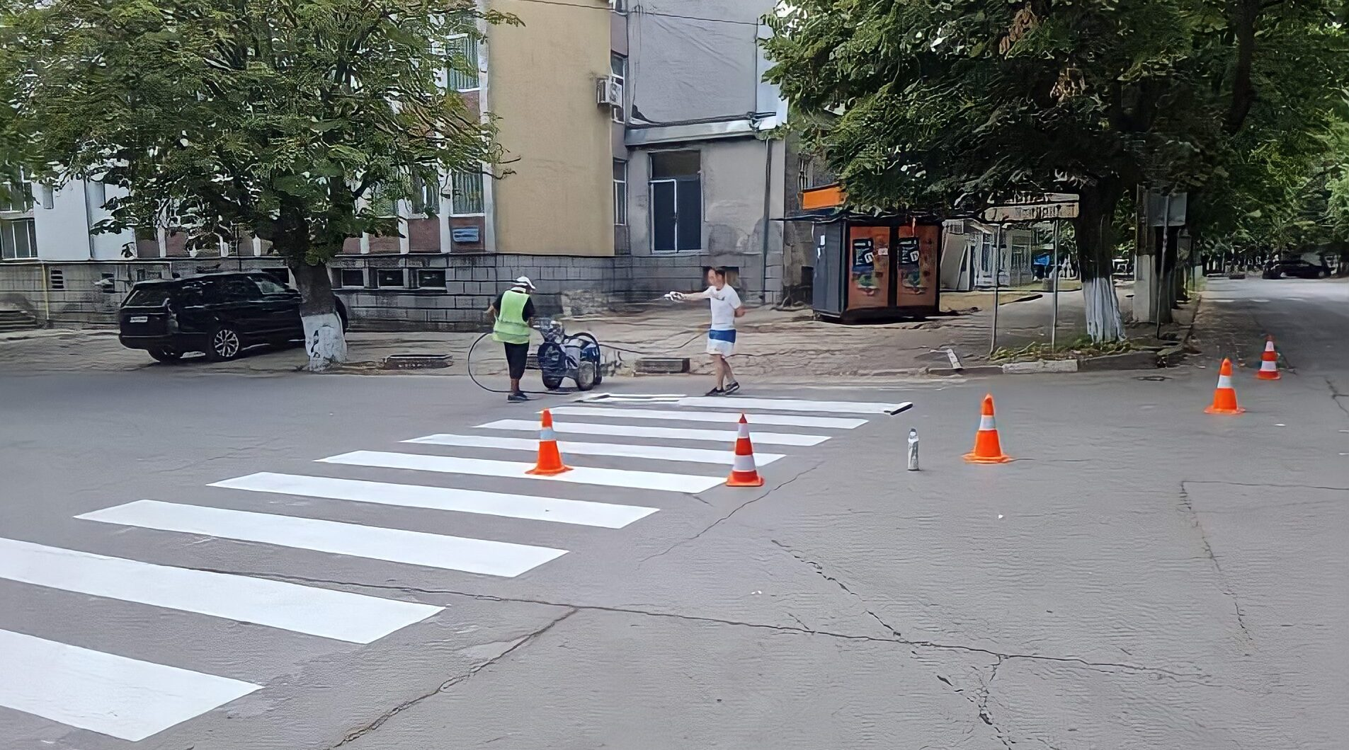 Община Кубрат започна поетапно обновяване на маркиров ...