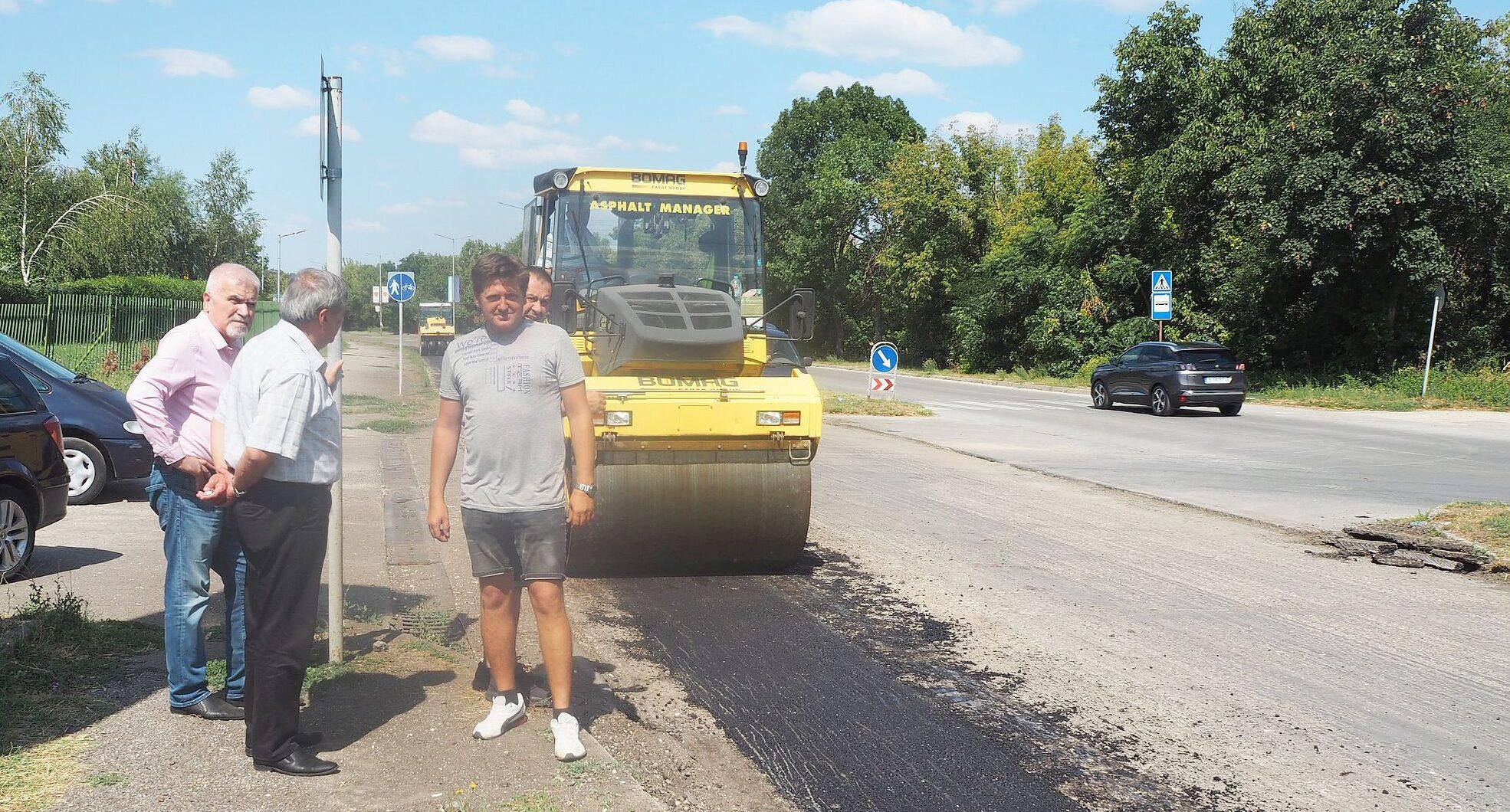 """В понеделник полагат първия пласт асфалт на """"Априлско ..."""